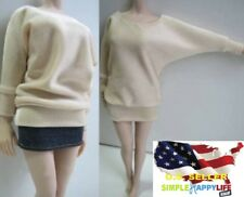 """1/6 Female Long Sleeve Oversize sweater For Phicen Hot toys 12"""" Figure ❶USA❶"""