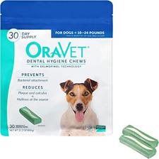 Merial Oravet Dental Hygiene Chew For Dogs 10-24 Lbs, Dental Treats For Dogs, 30