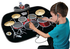 Gigantesco PIEGHEVOLE DRUM KIT Playmat PER PARTY DANCE Xmas Games Kids TAPPETINO MUSICALE