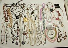 Lot Of 45 Costume Necklaces Beaded Pendants And Other Lot #4