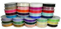 "7/8"" Organza Sheer SATIN EDGE Ribbon 25 yds each Roll 100% Nylon"
