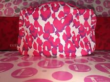 "Estee Lauder Pink/Purple/ White Animal Print Cosmetic Bag 8"" X 6"" X 2"""