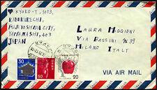 JAPAN 1975 Posta Aerea Coperchio per l'Italia #C 43265
