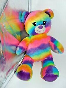 Build a Bear Rainbow  eddy Bear Tie Dye Plush