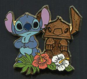 Disney Store Japan Pin TIKI STITCH Hibiscus Flowers Hawaiian Stitch Series