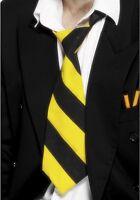 Mens Adult Unisex Fancy Dress Schoolboy School Girl Tie Yellow/Black by Smiffys