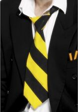 Mens Adult Unisex Fancy Dress Schoolboy School Girl Tie Yellow/Black by Smiffys