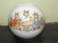 "Royal Doulton Bunnykins ""Rabbits Christening"""" round Money box bank with bung"
