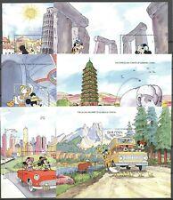 Walt Disney, Bauwerke - Bhutan - 14 Werte, 14 Bl. ** MNH