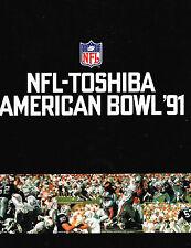 1991 AMERICAN BOWL GAME Program LOS ANGELES RADIERS vs MIAMI DOLPHINS Tokyo