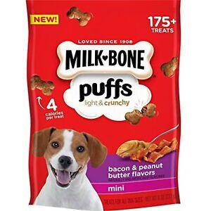 Milk-Bone Puffs Dog Treats, Peanut Butter & Bacon Flavors, Mini Treats