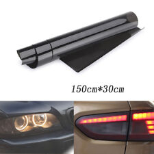 30x 150cm Tint Film Headlights Tail lights Car Vinyl Wrap Light Smoke Black New