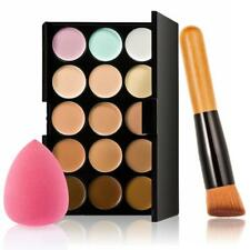 15 colores de la paleta de Corrector Contorno 1 Crema en polvo de maquillaje