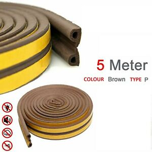 5M Draught Excluder Noise Weather Strip Tape Door Window Cabinet Car Seal Strip
