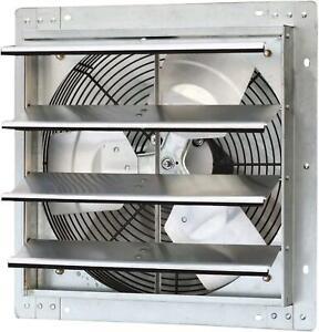 "16"" Automatic Ventilation Exhaust Fan Shutter Ventilator Garage Variable Speed"
