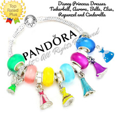 Authentic Pandora Bracelet Silver Disney Princess Dresses with European Charms