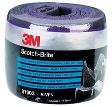 3M Scotch-Brite Pre Cut Rolls - Purple Very Fine 07904 35 Pads 115x150mm