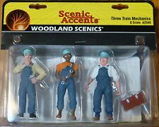 Woodland Scenics G #2549 Three Train Machanics (Figures)