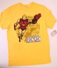 Marvel Comics The Invincible Iron Man Men Yellow T-Shirt NWT Size M