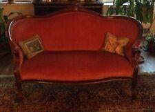 victorian loveseat mahogany frame good condition