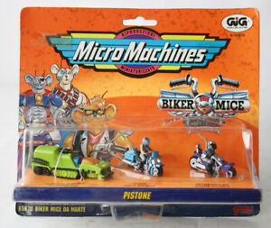 RARE VINTAGE 1994 MICRO MACHINES BIKER MICE FROM MARS PISTONE GALOOB NEW SEALED!