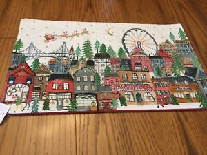 NEW Pottery Barn CHRISTMAS IN THE CITY LUMBAR PILLOW COVER * village whimsical