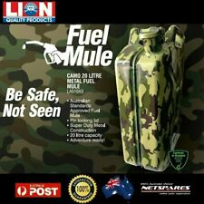 Lion Fuel Mule 20 Litre Camouflage Metal Jerry Can Auto Car SUV 4WD Off-Road