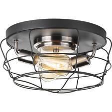 Progress Lighting Gauge Collection 2-Light Graphite Flushmount