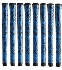8 Winn MIDSIZE +1/16th Dri-Tac X Performance Soft Blue / Black Grips 6DTX-BLB