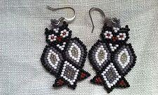 Handmade Southwest Owl Pierced Earrings Prison Craft
