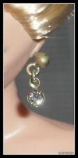 NEW Barbie Jazz Baby Doll Silver Faux Diamond Stud Earrings ~ Model Muse Jewelry