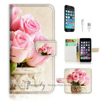 ( For iPhone 7 ) Wallet Case Cover P1761 Flower