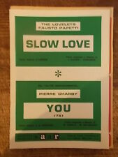 "SPARTITO THE LOVELETS ""SLOW LOVE"" + CHARBY ""YOU"""