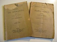 JOSE ECHEGARAY Deux FANATIQUES & PESTE 1884-87 ESPAGNE MADRID PRIX NOBEL