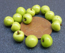 1:12 Scale 10 Granny Smith Apples Dolls House Miniature Fruit Kitchen Accessory