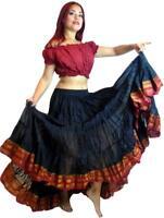 Mujer Ats Danza Del Vientre 22.9m Algodón Falda Larga - Ats Baile Faldas