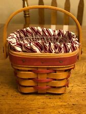 Longaberger 1995 Sweet Sentiments Basket with Liner and Protector