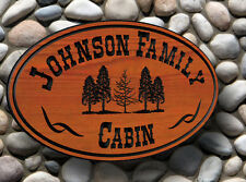 Personalized Custom Carved Redwood Sign - Last Name Rustic Plaque Wedding gift
