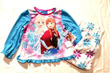 Disney Girl's Pajama Set Frozen Elsa & Anna 2 Piece Multi-color Size 2T NEW NWT