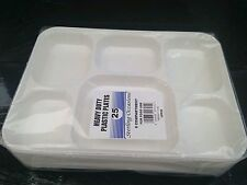 25 x plastic 6 compartment plate  curry thali 30 x 23cm for all occasions