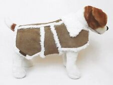 Hailey and Oscar Veste en cuir style sherpa - Manteau pour chien