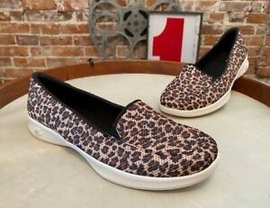 Skechers Leopard GO Step Lite Animal Print Slip On Shoes Frenzy New