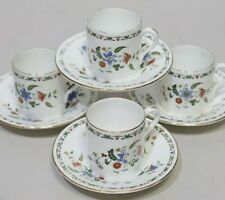 4 Pc SHELLEY China CHELSEA Pattern FLORAL Coffee Cup and Saucer - 221