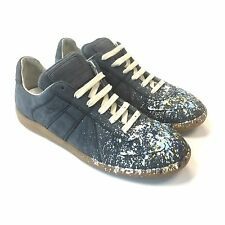 NWT $595 Maison Martin Margiela Men's Suede Paint Splatter Sneakers 7 AUTHENTIC