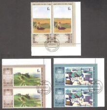 Paintings Venetsianov, Savrasov, Saryan 1980 USSR 2x3 stamps  Mi 4929-31