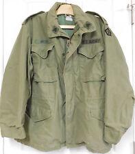 U.S. Named 5th Corps Sgt.'s O.D. M-65 Field Jacket in Medium Regular-1972