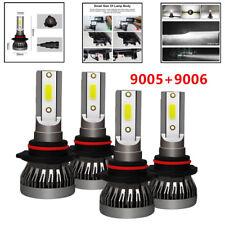 4x COB 9005+9006 Total 3000W 450000LM CREE LED Headlight Hi-Low Beam 6000K White