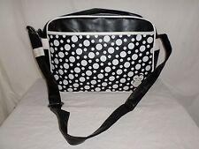 Messenger Shoulder Bag Crossbody Totes Fashion Black Dots Owl Design PU Leather