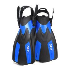 Size 9-13/4-8 Adjustable Swim Flippers Short Blade Diving Snorkeling Adult/Kids