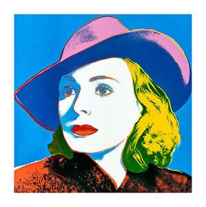 Ingrid Bergman-With Hat by Andy Warhol 58cm x 58cm High Quality Art Print